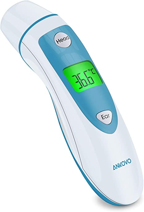 4 in 1 Ear and Forehead Thermometer Adult Baby Infrared IR LCD Digital Medical