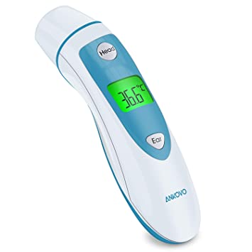 ANKOVO Forehead and Ear Thermometer Medical Digital Infrared Thermometer  for Fever Suitable for Toddler Baby and Adults