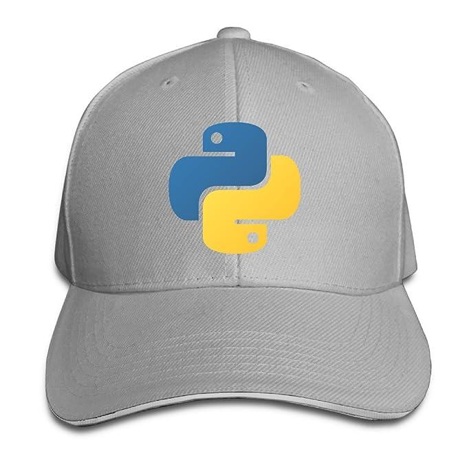 Boomy Python Programming Baseball Cap Hat Ash at Amazon Men s Clothing store   e84ee3157e19