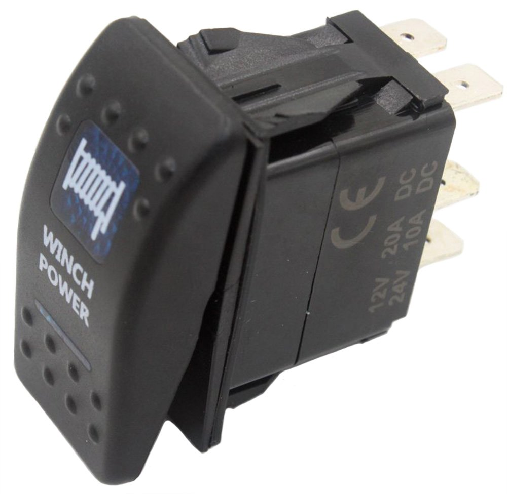 Sundely Winch Power 12v 24v On Off Rocker Switch With Blue Led Carling Wiring Diagram Arb Style