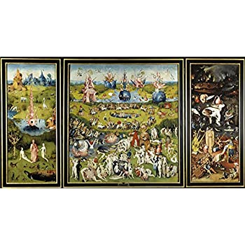 Set Hieronymus Bosch The Garden Of Earthly Delights 1500 3 Parts Stretched