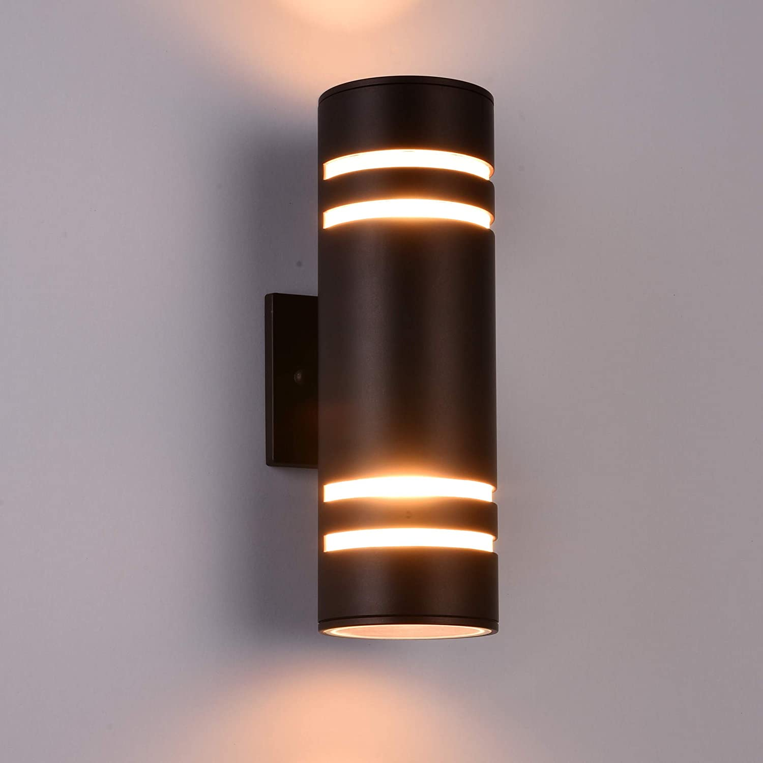 Outdoor wall light fixture aluminum modern wall sconce waterproof porch light for outdoor indoor use brownetl listed amazon com