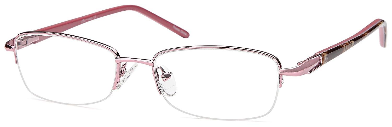 7676575d6cb3 Amazon.com  DALIX Womens Prescription Eyeglasses Frames 53-17-135-31 RXable  in Brown GLS-C15237  Clothing