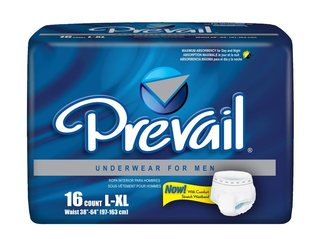 Amazon.com: Prevail Maximum Absorbency Incontinence Underwear for Men, Large/Extra Large, 16-Count (Pack of 4): Health & Personal Care