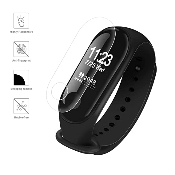 TOMALL 5Pcs HD Screen Protective Film for Xiaomi Mi Band 3 Smart Watch Screen Protector
