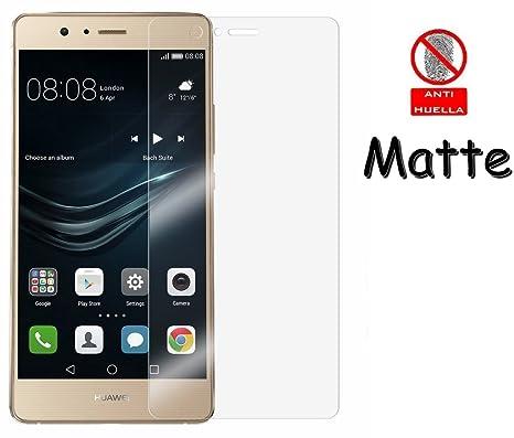 Funnytech_ Protector de pantalla Cristal templado MATE y ANTIREFLECTANTE para Huawei P9 Lite l Calidad HD