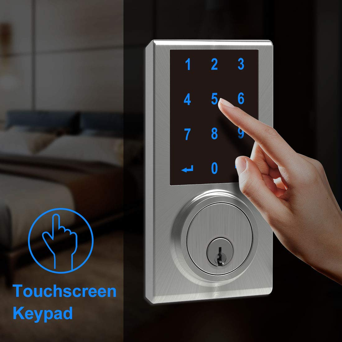 Signstek Keypad Touchscreen Deadbolt Lock with Z-Wave Compatible with Alexa