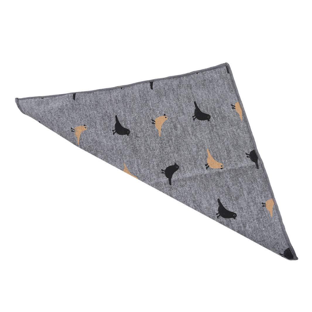Sperrins Cotton Fabric Bird Print Fabric Handkerchief Suit Pocket Towel Photo Color