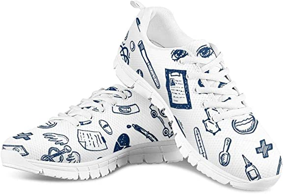 HUGS IDEA Zapatillas deportivas ligeras para mujer, color Blanco, talla 43 EU: Amazon.es: Zapatos y complementos