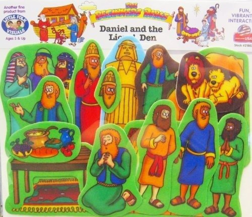 Beginners Bible Daniel and the Lions' Den Felt Figures for Flannel Board Stories -