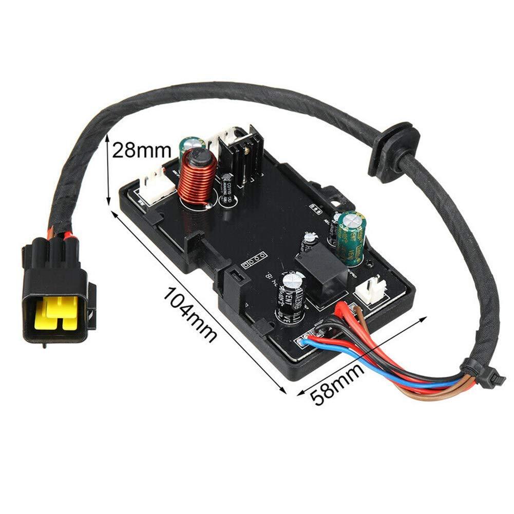 95x60x30mm Negro Control Tabla 12V para Di/ésel Calentador de Aire Aparcamiento Calentador Placa Base Cami/ón zw65inz0 Coche Calentador Control Tabla - Negro Free Size