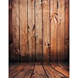 Tinksky Wood Floor Photography Backdrops Photo Props Studio Background (Red Wood Color)