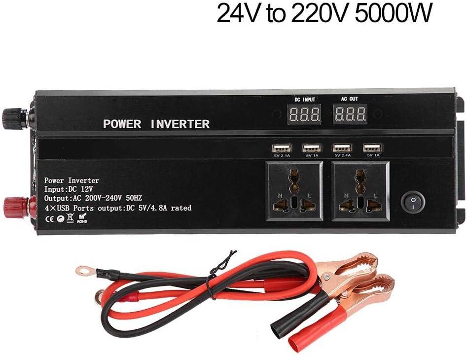12 V bis 220 V, 5000 W 3000W//4000W//5000W//10000W Auto Solar Inverter Schwarz High Power 12V//24V bis 220V Naroote Solar Inverter
