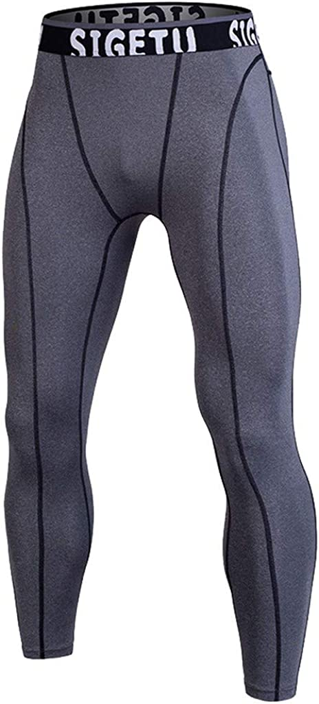 FRAUIT Pantaloni Sportivi Uomo Leggins Uomo Palestra Compressione Uomo per Corsa e Allenamento Pantaloni Lunghi da Uomo per Allenamento