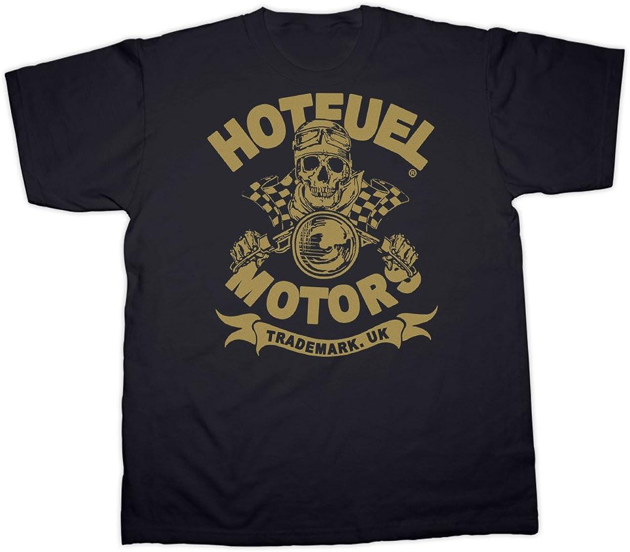Hot Fuel Hotfuel T/ête de Mort Moto Rider T-Shirt Toutes Les Tailles