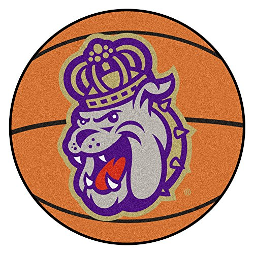 NCAA James Madison University Dukes Basketball Shaped Mat Area Rug