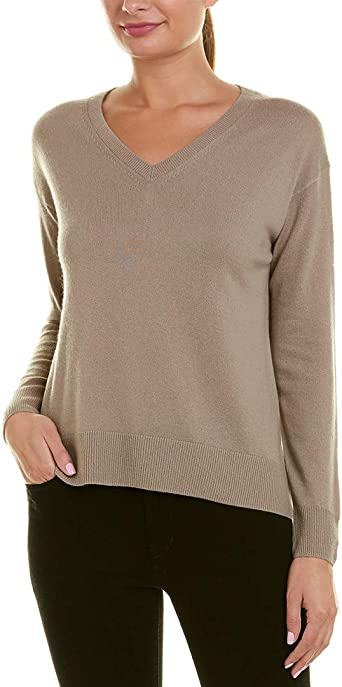 Wet Sand Vince Wool//Cashmere Boatneck Pullover Sweater