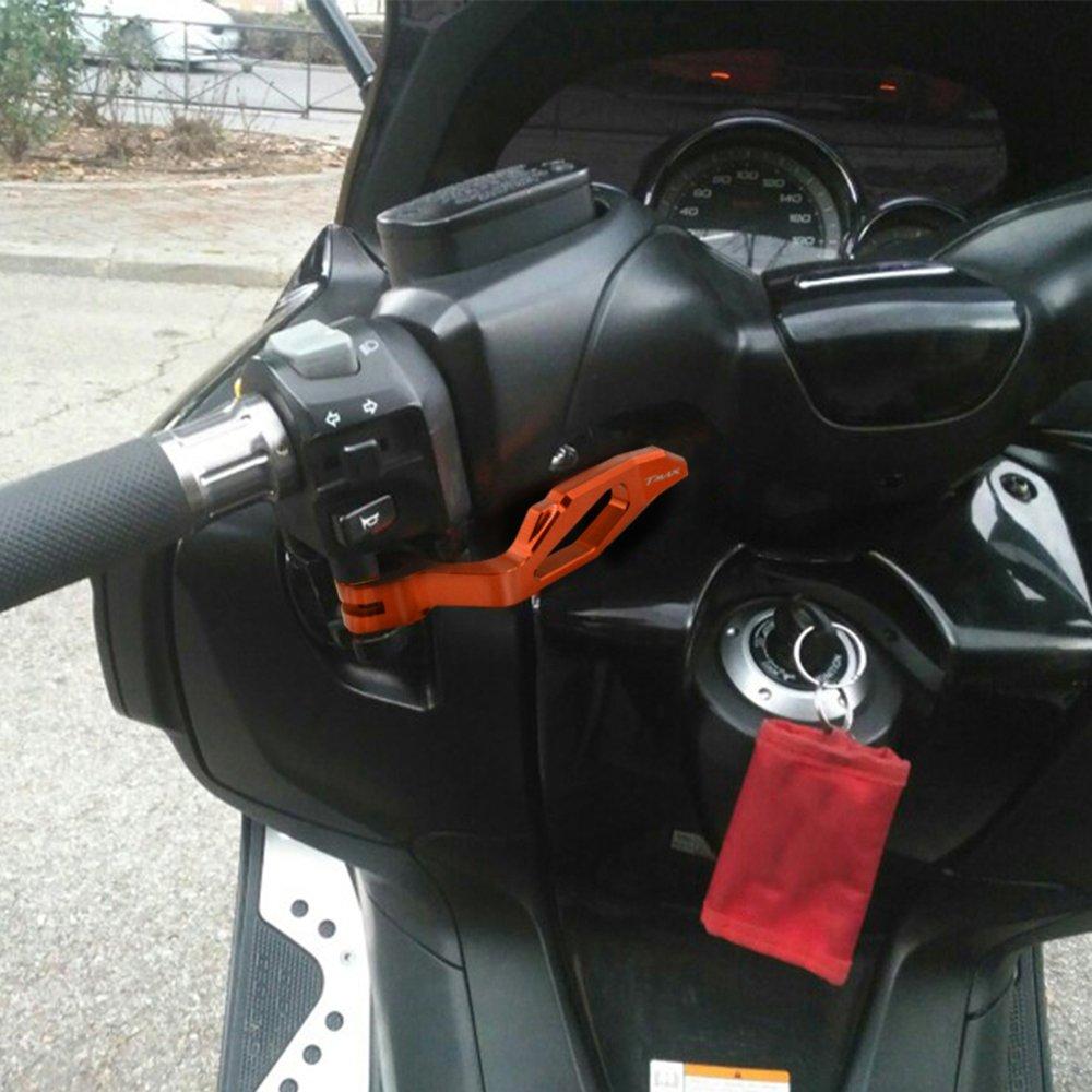 Motociclo Aluminium Leva del Freno di Parcheggio per T-MAX 530 2012-2015 T-MAX 500 2008-2011 XP 500 XP 530 Rosso