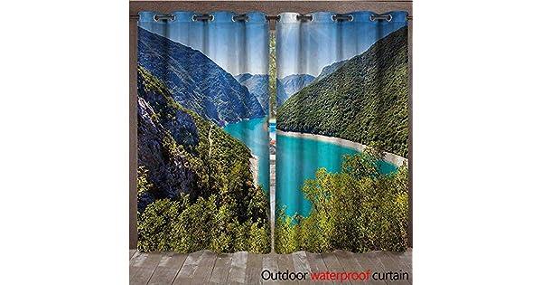 Amazon.com: BlountDecor - Cortina con ojales en la parte ...
