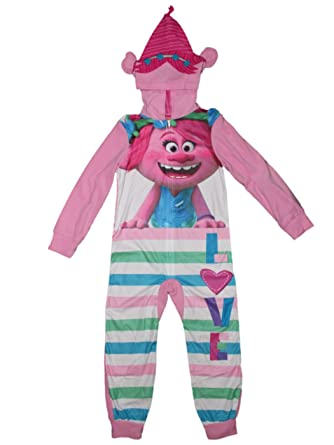 4a11bb571d Amazon.com  Trolls the Movie Poppy Union Suit Pajamas Girls 4-16 ...