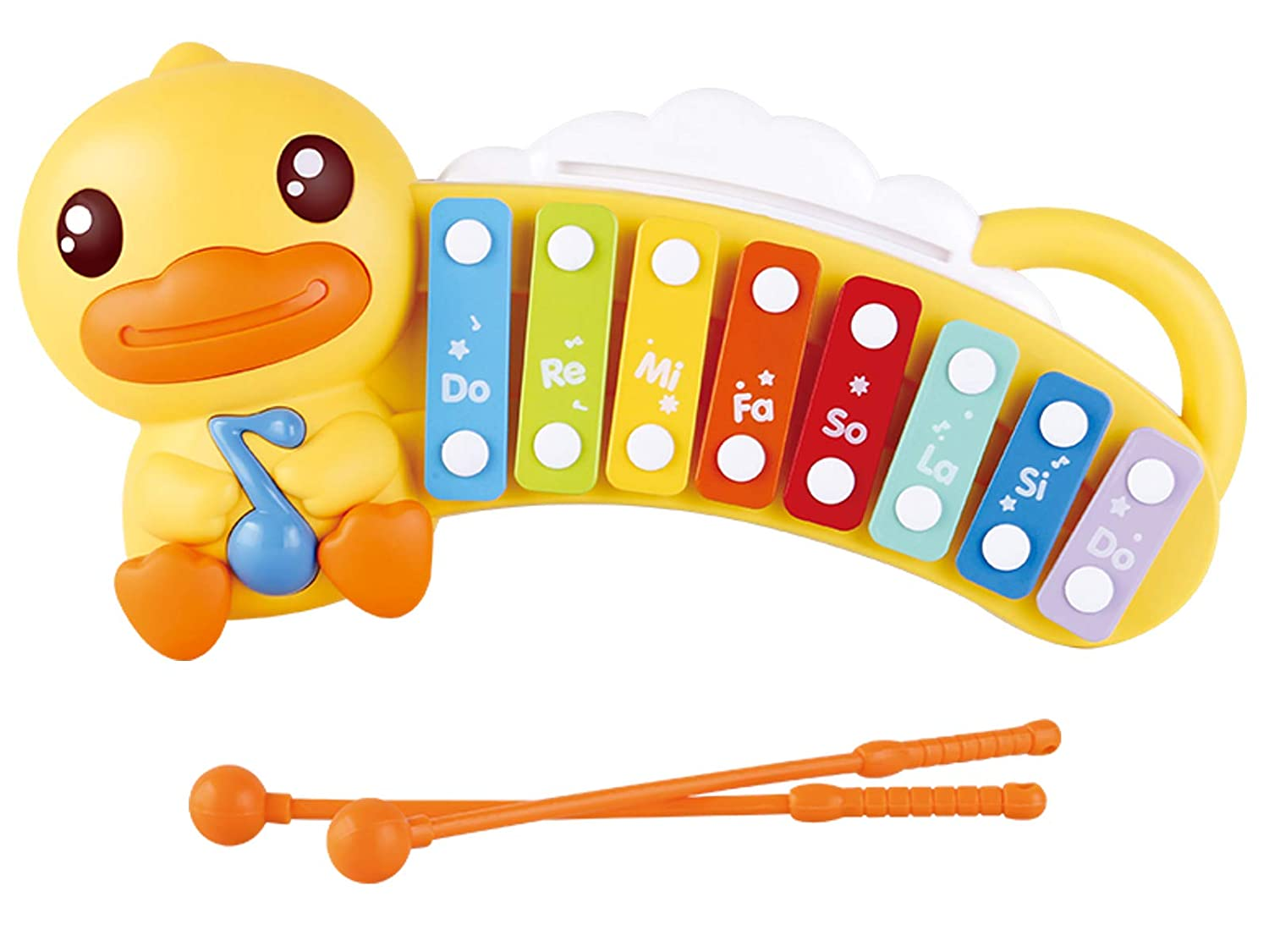 POCO DIVO Rainbow Stacking Nesting Cups Silicone Baby Duck Teething Duckbill Colorful Toddler Stack-up Toy with Letters /& Numbers