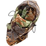 Liroyal Outdoor Hunting Climbing Full Face Hood Head Protector Hat Woodland Camouflage