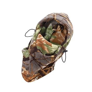 Mascara Protector Cara Cabeza Cubierta Doble Capa Caza Deporte Winter camouflage