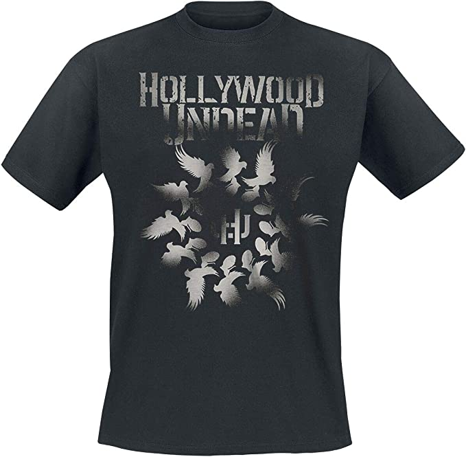 NEW MENS T-SHIRT Dove Grenade Spiral Hollywood Undead