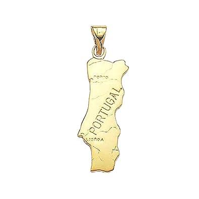 Colgante tarjeta Portugal chapado en oro 18 quilates - Neuf ...