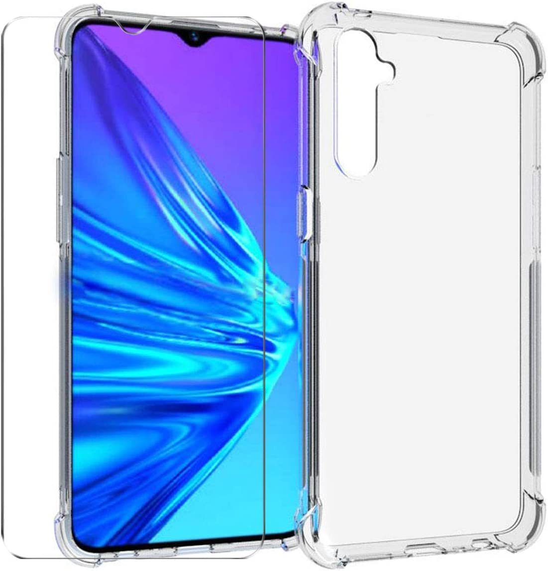 HYMY Funda para Realme X2 Smartphone + 1 x Cristal Templado ...
