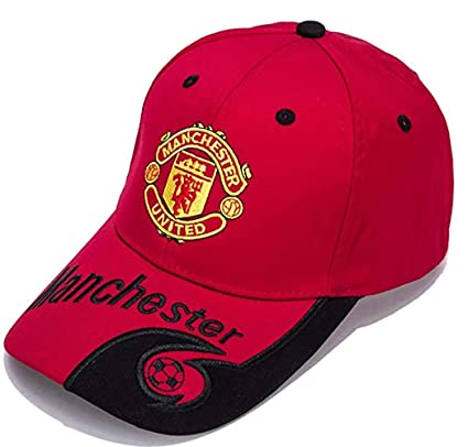 5f08e4a0571 Image Unavailable. Image not available for. Color  Manchester United Red  Baseball Cap ...