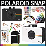 Polaroid Snap Instant Print Camera Gift Bundle + ZINK Paper (30 Sheets) + Snap Themed Scrapbook + Pouch + 6 Edged Scissors + 100 Sticker Border Frames + Color Gel Pens + Frames + Accessories