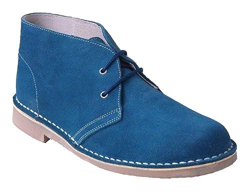 Botines de Piel de Serraje con Cordones en Color AZULON. Todas Las Tallas Disponibles.: Amazon.es: Zapatos y complementos