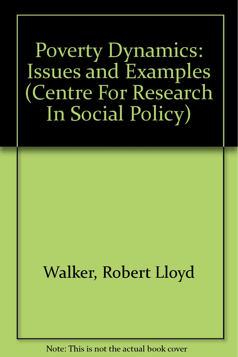 Examples Of Social Policy >> Poverty Dynamics Issues And Examples Centre For Research In Social
