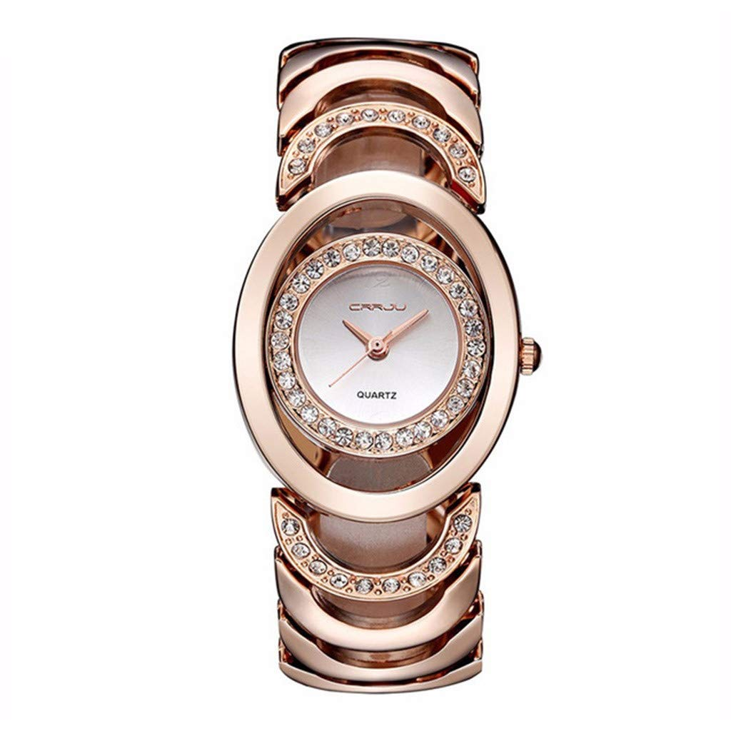 Simple Casual Fashion Elliptical Dial Small and Exquisite Female Bracelet Wrist Classics Gifts Strap Vintage Ladies Women Watch