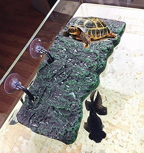 Turtle Climing Platform Floating Island PU Foam Aquarium Reptiles Basking Island