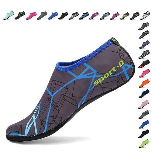 Cior 3ª Versión Actualizada Durable único Barefoot Agua Piel Zapatos Aqua Calcetines para Playa Piscina Arena Natación Surf Agua Yoga aeróbic: Amazon.es: ...