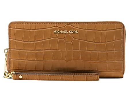 25376d5b044a MICHAEL Michael Kors Jet Set Travel Crocodile-Embossed-Leather Continental  Wallet