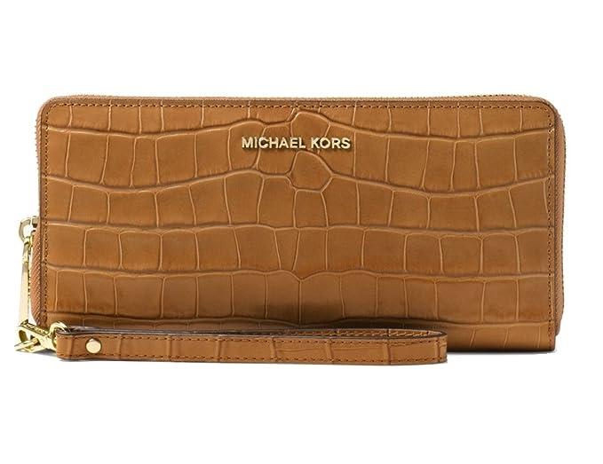 7cca0f8a77 Michael Kors Women's Jet Set Travel Leather Continental Wristlet