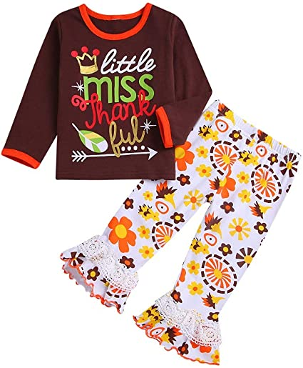 Toddler Kids Baby Girls Letter Print T-shirt Tops+Long Leggings Pants Clothes