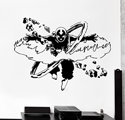 Self adhesive Graphic Art Mural 24 x 8 Avatar the last airbender 3D Window View Decal Graphic WALL STICKER Art Mural