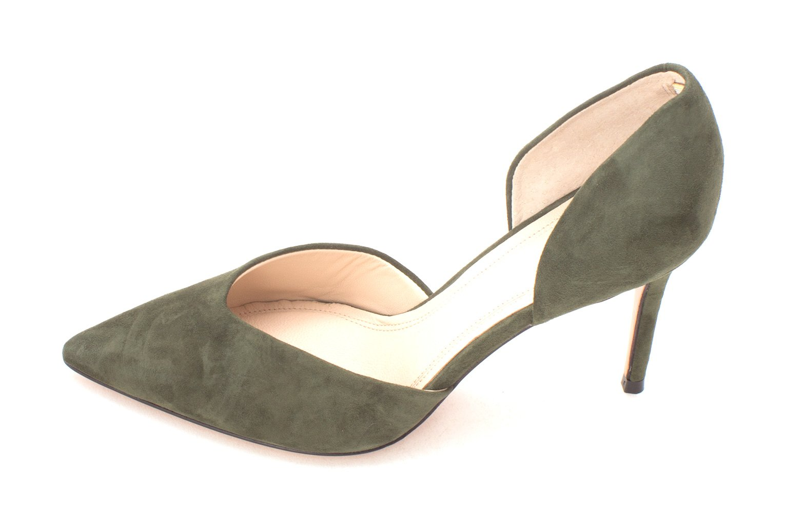 Marc Fisher Womens Tammy Leather Pointed Toe D-Orsay Pumps, Green, Size 5.0