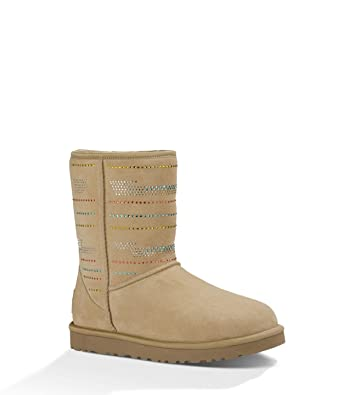 fbf388ffb711af ... authentic ugg womens classic short serape bling sand twinface boot 5 b  d2bfa 9ce71