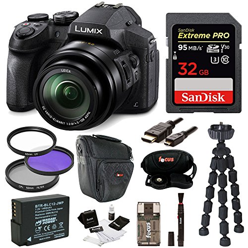 Panasonic DMC-FZ300K Digital Camera with 32GB SD Card and Accessory Bundle (12.1 Mp Digital Camera)
