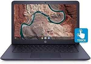 HP Chromebook 14-db0044wm A4-9120C 4GB 32GB 14-inch 1920x1080 Touchscreen Radeon Graphics Laptop - Blue (Renewed)