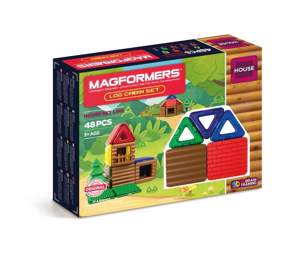 50% Off Magformers Log Cabin (48 Piece) Building Set .42  @ Amazon