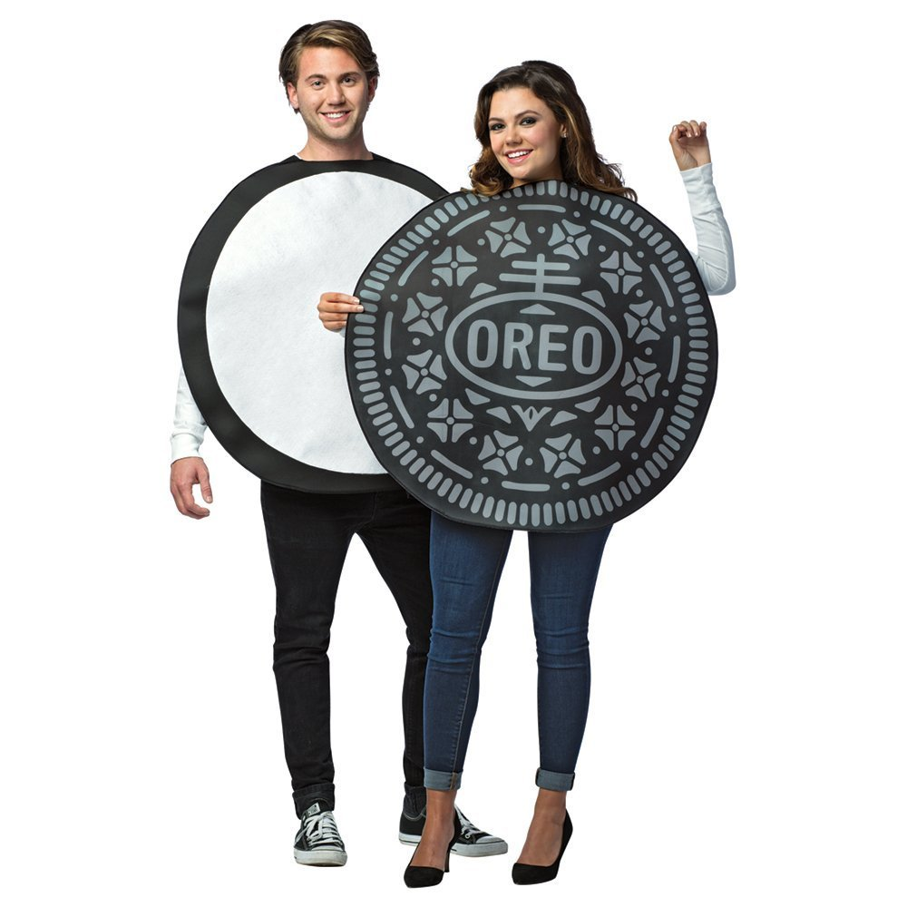 amazoncom adult oreo cookie couples costume standard clothing