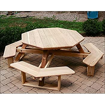 Red Cedar Octagon Walk-In Picnic Table