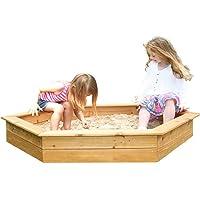 Large Hexagonal Wooden Sandpit (Sandpit)