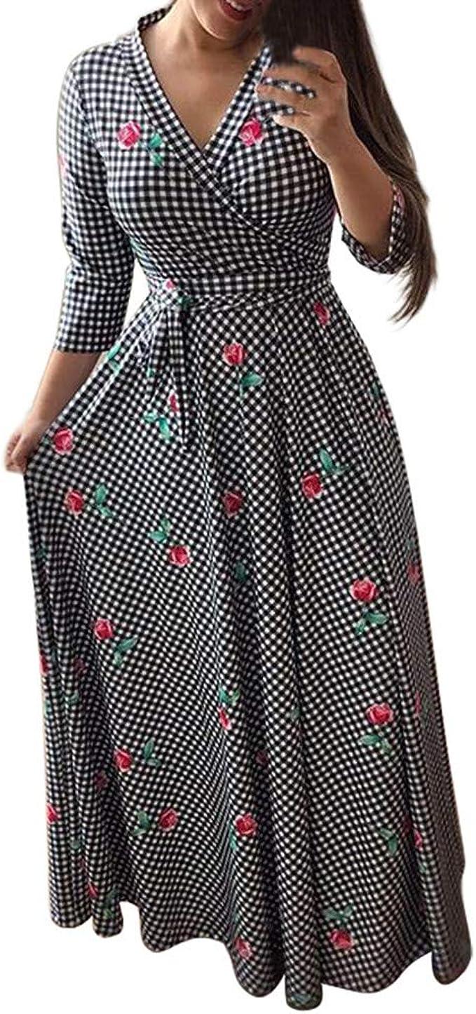 Damen Abendkleid Kurz Spitze Sommerkleider Flare Sleeve Langarm